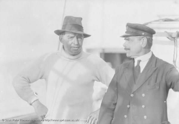 """I thought you packed it!"" Shackleton and Woosley. Image via the Scott Polar Research Institute."