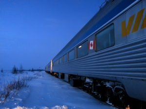 2 hour train ride from Churchill to the Lodge