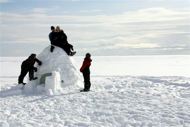 Children with Igloo