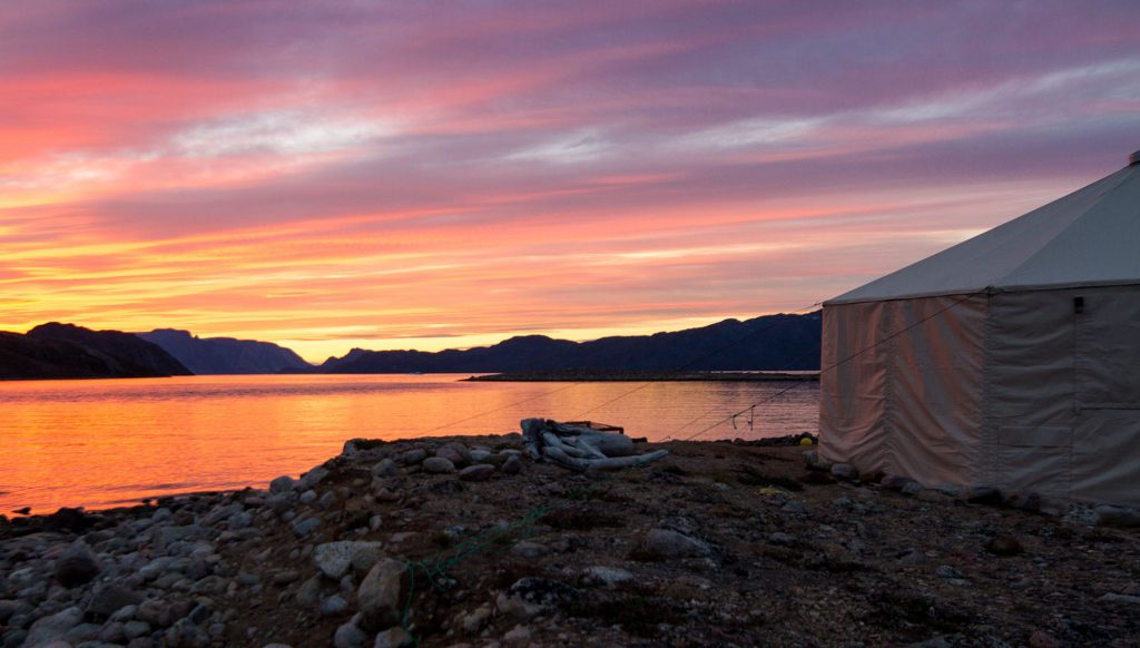 Arctic summer sunset Baffin Island - Arctic Kingdom