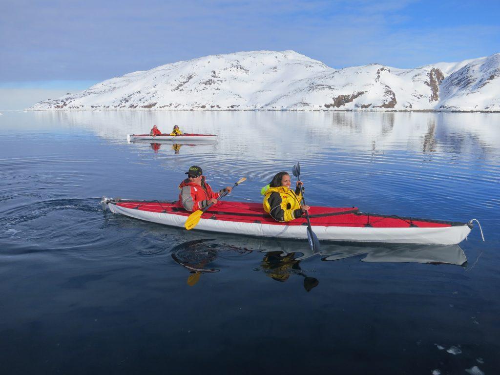 arctic kingdom kayaking at the floe edge