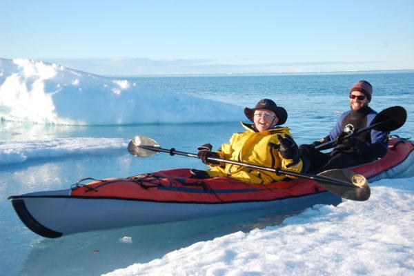 Kayaking in the floe edge