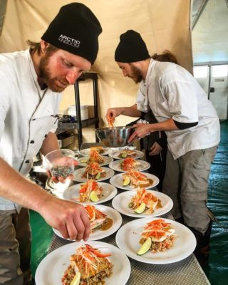 Culinary Search Group preparing gourmet meals in the arctic
