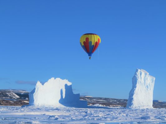 Hot air balloon in the Arctic