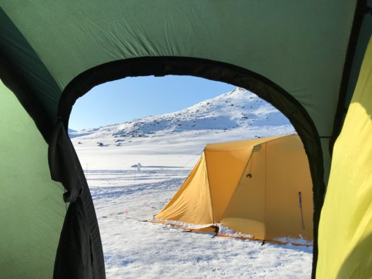 Spring camp in the arctic