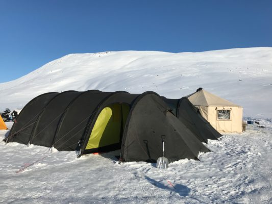 large tent for arctic camping