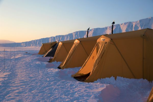 tents for spring camp in the arctic