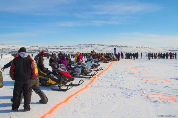 Toonik Tyme Festival - Snowmobile race