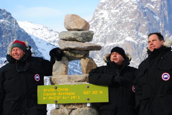 Arctic circle statue
