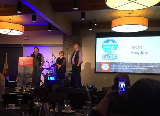 Arctic Kingdom receiving the Pioneer Award