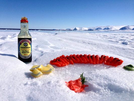 Inuit delicacies in the Arctic