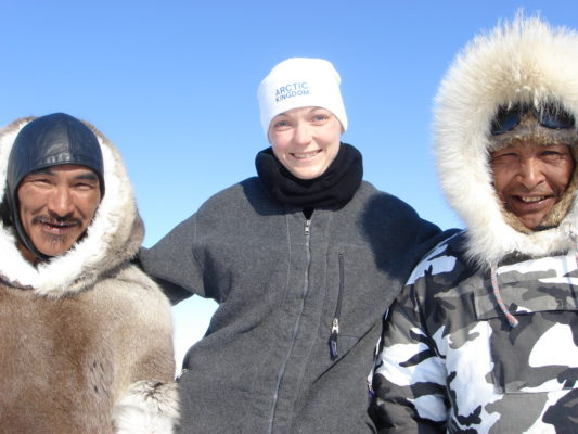Inuit guides with Arctic Kingdom tour