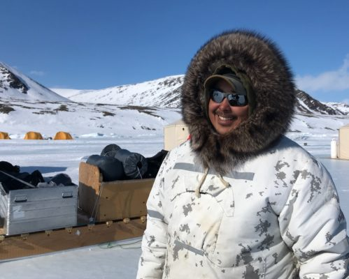 Inuit guide in the arctic