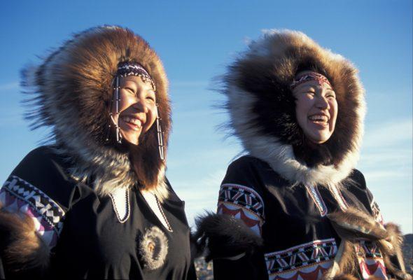 Hooded Nunavut citizens