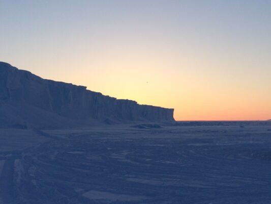 arctic spring sunset
