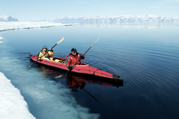 Kayaking in arctic waters